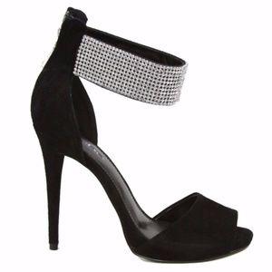 BEBE Alexis Ankle Cuff Womens Stiletto High Heel 9